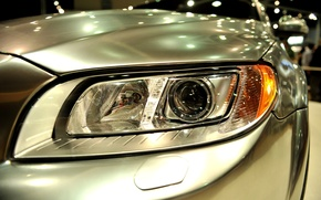 Wallpaper wallpaper, beautiful, bokeh, blur, lights, chrome, left headlight, machine front, macro, feel of speed, front, ...