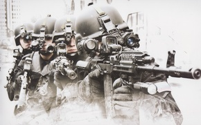 Wallpaper special forces, helmet, soldiers, fighters, Russia, FSB, group a, machine