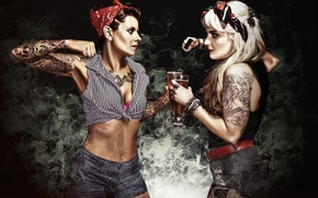 Wallpaper boxing, Brad Kingett, fight, knuckles, smoke, photographer, girls, tattoo, girls, beer, fight