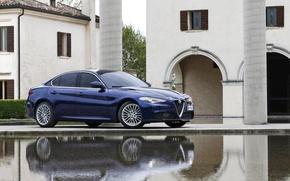 Picture Blue, Alfa Romeo, Blue, Alfa Romeo, Giulia