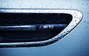Picture drops, macro, BMW, BMW M5