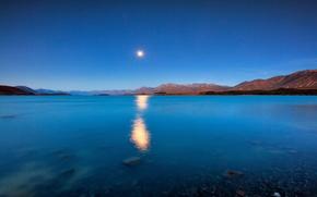 Picture the sky, landscape, lake