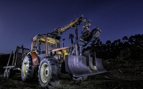 Picture machine, background, tractor
