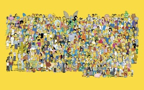 Wallpaper the simpsons, characters, simpsons, all