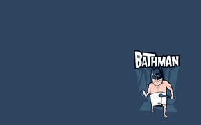Picture towel, humor, mask, parody, bathroom, bathman, brush
