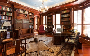 Picture design, brown, wooden, leather, home, luxury, library