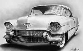 Picture retro, old, rarity, old, Cadillac