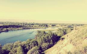 Picture Landscape, the Yenisei river, Krasnoyarsk Krai