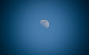 Picture white, the sky, space, blue, the moon, craters