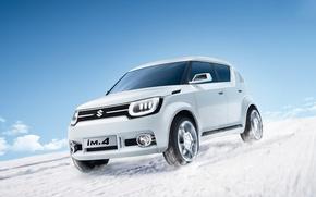 Wallpaper white, photo, concept, crossover, 2015, Suzuki iM4