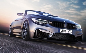 Picture BMW, Car, Speed, Front, Sport, Road, Convertible