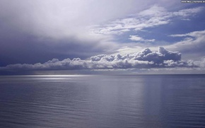 Picture sea, the sky, clouds, nature