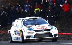 Picture Auto, White, Volkswagen, People, Red Bull, WRC, Rally, Polo, Sebastien Ogier, Ancestor