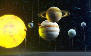 Picture space, planet, solar system, art