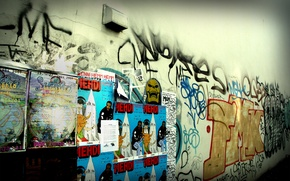 Picture the city, style, photo, background, wall, Wallpaper, graffiti, advertising, different, ads
