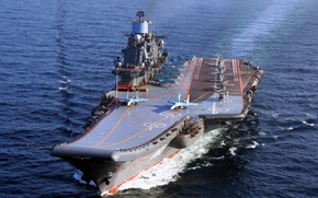Picture the carrier, in the sea, The Northern Fleet, on the go, Admiral Of The Fleet ...