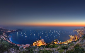Picture night, the view from the top, monaco, yacht show 2014
