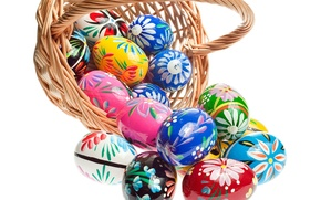 Picture basket, eggs, Easter, Easter, eggs