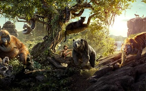 Picture Scarlett Johansson, Jungle, Fantasy, Nature, Tiger, Snake, The, Wild, Boy, Kid, Idris Elba, Year, EXCLUSIVE, …