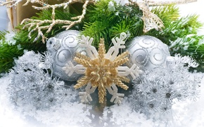 Picture holiday, new year, new year, snowflake, Christmas decorations, holiday