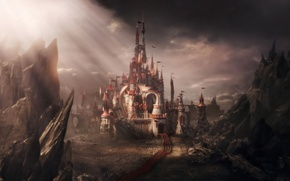 Picture castle, tale, army, Alice in Wonderland