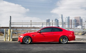 Picture BMW, BMW, profile, red, red, e92