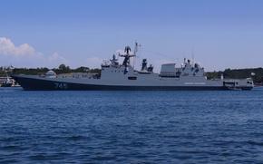 "Picture Frigate, Sevastopol, The Black Sea Fleet, patrol ship, ""Admiral Grigorovich"", the project 11356"
