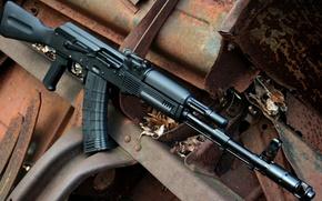 Wallpaper weapons, Kalash, assault rifle, AK 103, AK 105