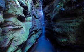 Wallpaper stream, waterfall, Gorge