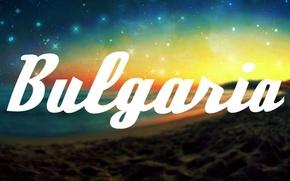 Picture beach, space, stars, the inscription, Bulgaria