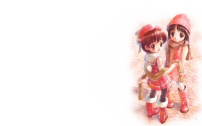Picture anime, art, girl, friends, friend