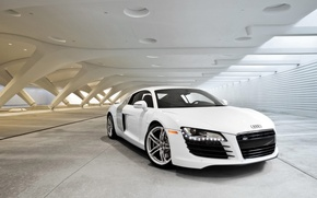 Wallpaper Audi, White, Canopy
