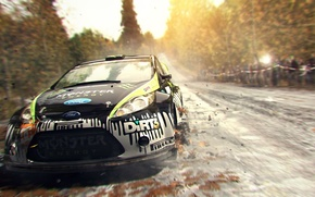 Picture machine, race, track, rally, dirt 3, video game, video game