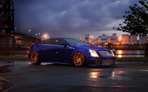 Picture car, rain, Cadillac, CTS, Coupe