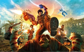 Picture gun, fighters, furious shooter, electonic arts, bulletstorm