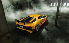 Picture car, Lamborghini, wallpaper, supercar, auto, yellow, Aventador, Novitec, Torado, LP 750-4