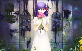 Picture Girl, Fate/Stay Night, Flowers, Type-Moon, Sakura Matou, Heaven's Feel