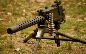"Picture grass, weapons, machine gun, Browning, machine gun, ""Browning"", M1919"