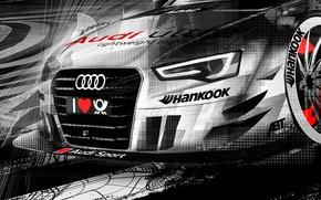 Picture Audi, figure, DTM, motorsport, audi rs5 dtm 2013