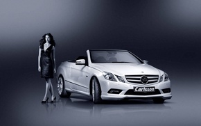 Picture girl, Mercedes-Benz, convertible, gelding, carlsson