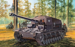 Picture Pz.Jg.Dept.Sfl. 521, Dicker Max, 10.5 cm K gp.Sfl., 521 first battalion of tank destroyers, armored …