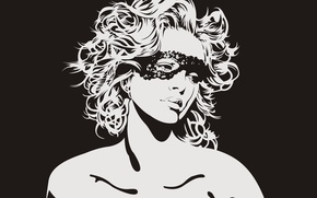 Picture Girl, vector, mask