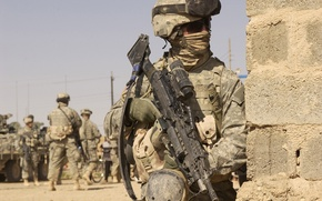 Wallpaper weapons, war, army, soldiers, American
