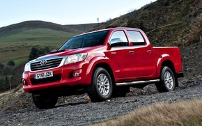 Picture England, Red, Nature, Mountains, Japan, Wallpaper, UK, Red, Toyota, Car, Pickup, Auto, Hilux, Wallpapers, Double …