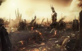 Picture destruction, Apocalypse, statue