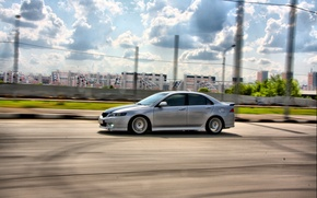 Wallpaper Speed, Honda, The sky, Accord, Road