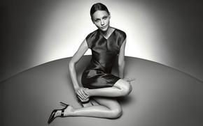 Picture light, ball, Sasha Pivovarova, Pivovarova, shade of grey, Russian model