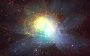 Picture space, stars, nebula, art