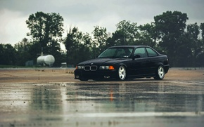 Picture rain, BMW, BMW, black, black, E36