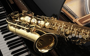 Picture music, music, keys, tool, piano, plan, music, musical, saxophone, wallpaper., saxophone, instrument